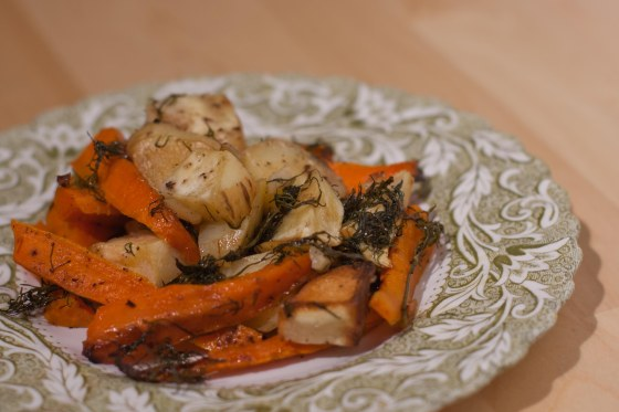 Roasted Parsnips & Carrots with Dill